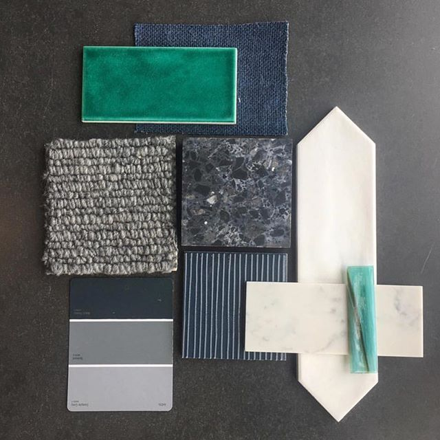 Blue and green scheme by @perinitiles featuring Foss made from 100% pure New Zealand wool (colour Exeter).