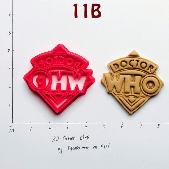 Doctor Who Cookie Cutter Brand new UNIQUE made to order Cookie Cutters.  -- Measurements -- Showed in picture, Scale in inch.  -- Material -- Made
