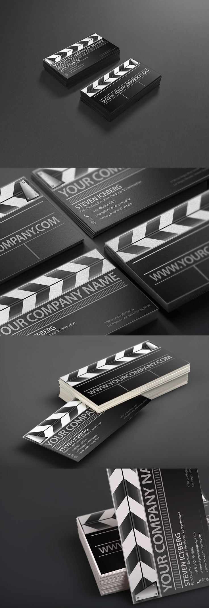Your no#1 Film director creative business card to catch your clients attention? To make them remember and outshine from the rest of the Boring cards in their holder? You get this right today!  This Film director business card is created from the concept of the slap board used during filming.  #businesscard #namecard #film #director #clapper