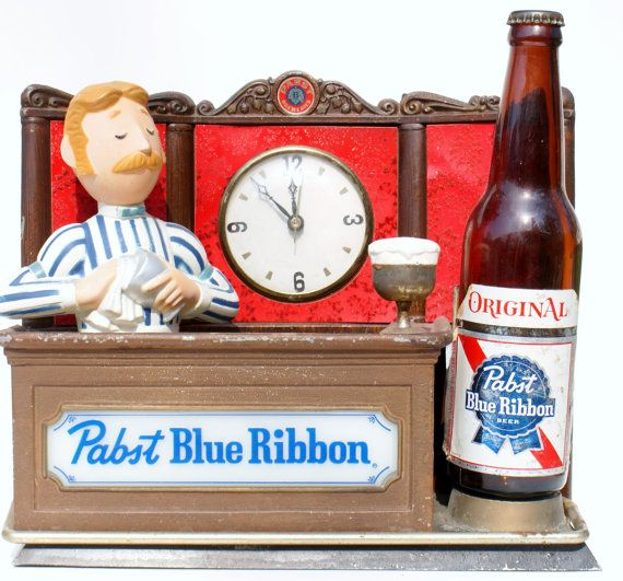 Vintage Beer Sign Pabst Bartender Sign Beer by DoorCountyVintage, $50.00