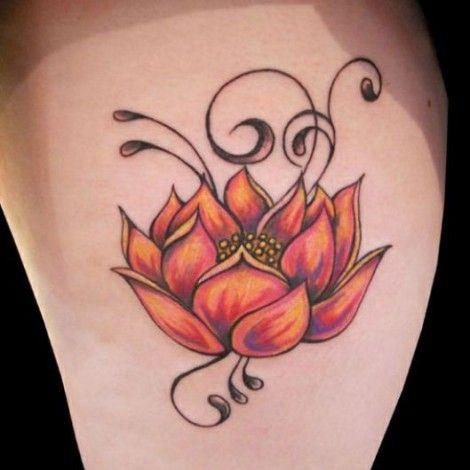 Fior di loto tatuaggio immagine
