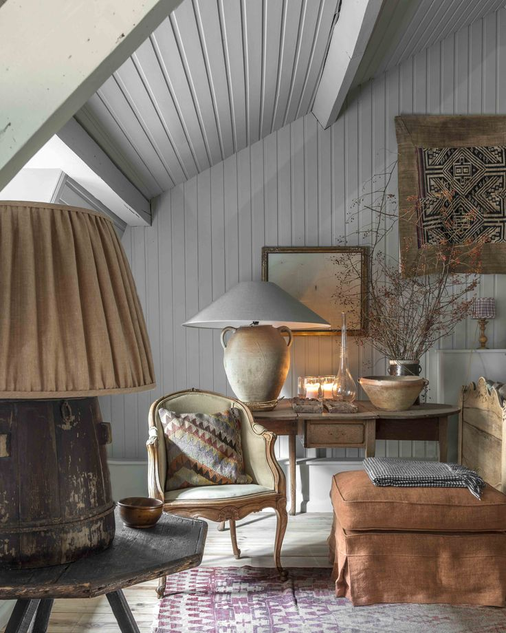 shiplap walls in European style room 269