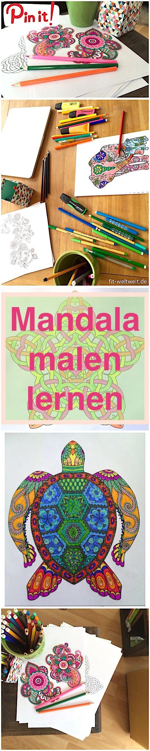 Entspannung: Mandala malen für Erwachsene mit Anleitung - fit-weltweit.de