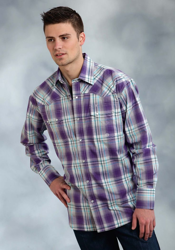 1000 images about purple western shirts dresses on for Mens tall western shirts