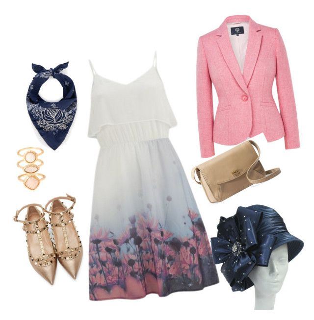 Summer rose dress set by marievel on Polyvore featuring Vero Moda, Viyella, Valentino, UGG Australia, Monsoon and Bliss and Mischief
