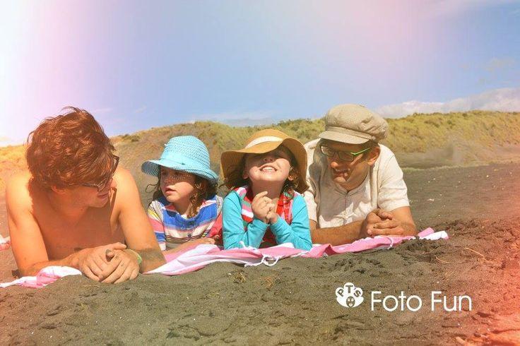 Friends in Kawhia beach