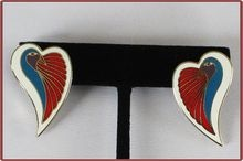 Vintage Laurel Burch Pierced Earrings Dove Heart: Piercings Earrings, Dove Heart, Laurel Burch, Jewelry Antique, Vintage Laurel, Earrings Dove, Costume Jewelry, Burch Piercings, Vintage Jewelry