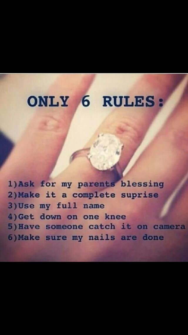 I'd replace #5 with be alone, and if he waited for #6 we'd never be getting married