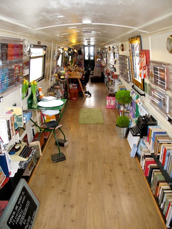 Bookshelf: The Book Barge What an amazing interior for an amazing shop on the water