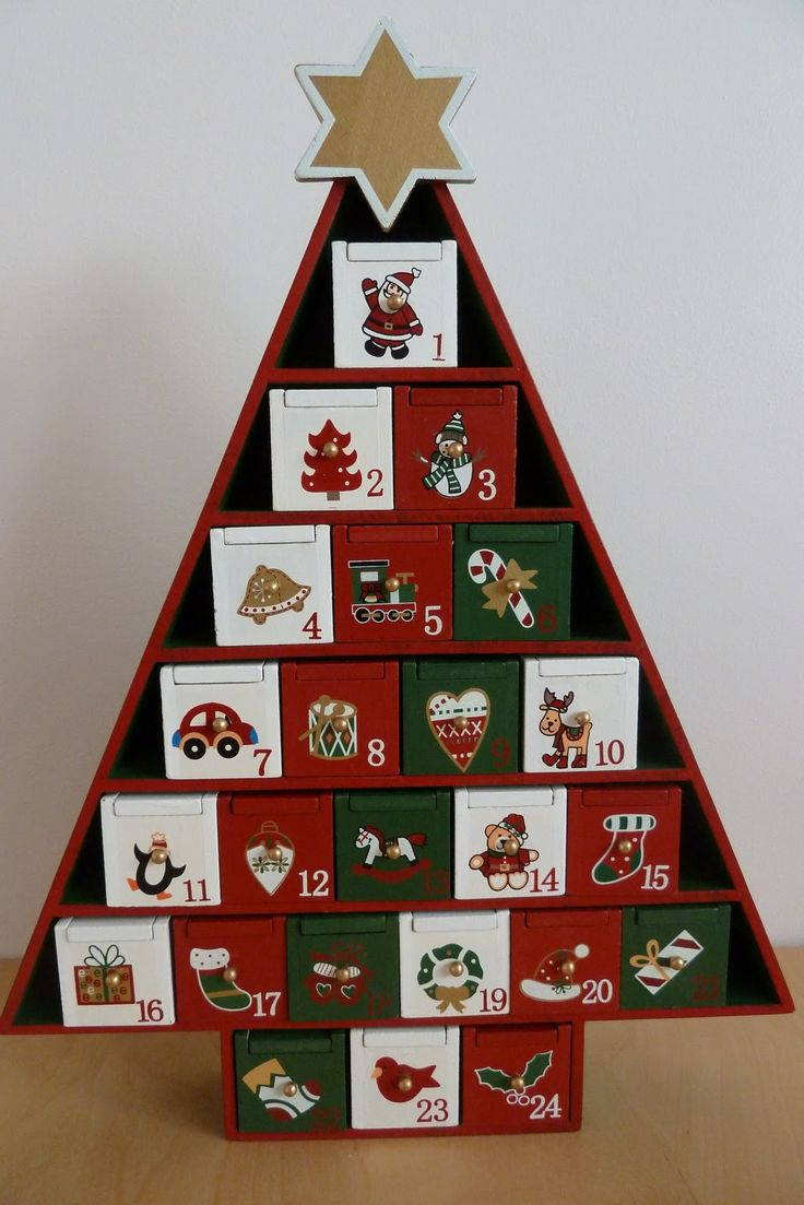 Image result for wooden advent calendar tree