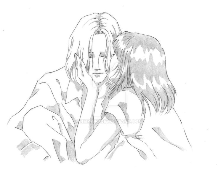 The tears of an angel by Reika77.deviantart.com on @DeviantArt #anime #manga #kiss #drawing #couple