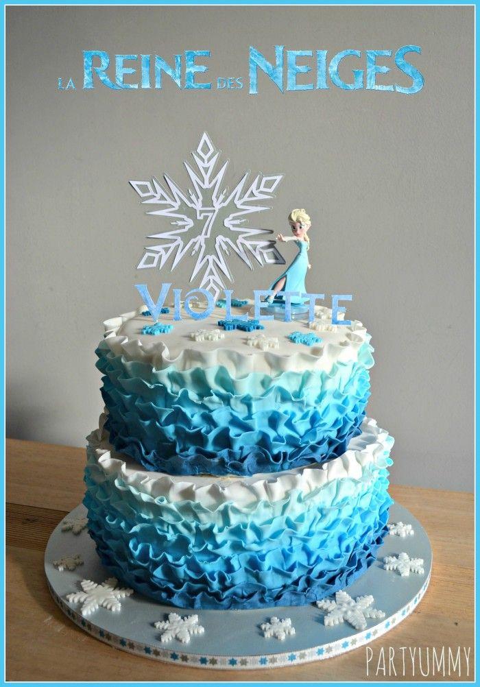 frozen elsa ruffle cake tuto available on elsa reine des neiges frozen cake frozen elsa ruffle caketuto