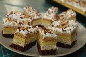 Karamelovo – orechový koláčik