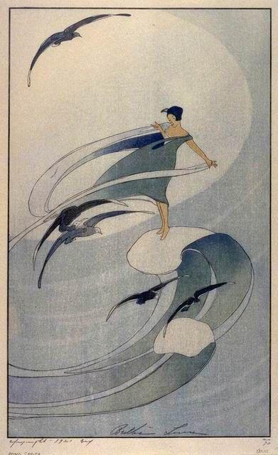 Bertha Lum (American, 1869-1954). Wind Sprite. 1917.