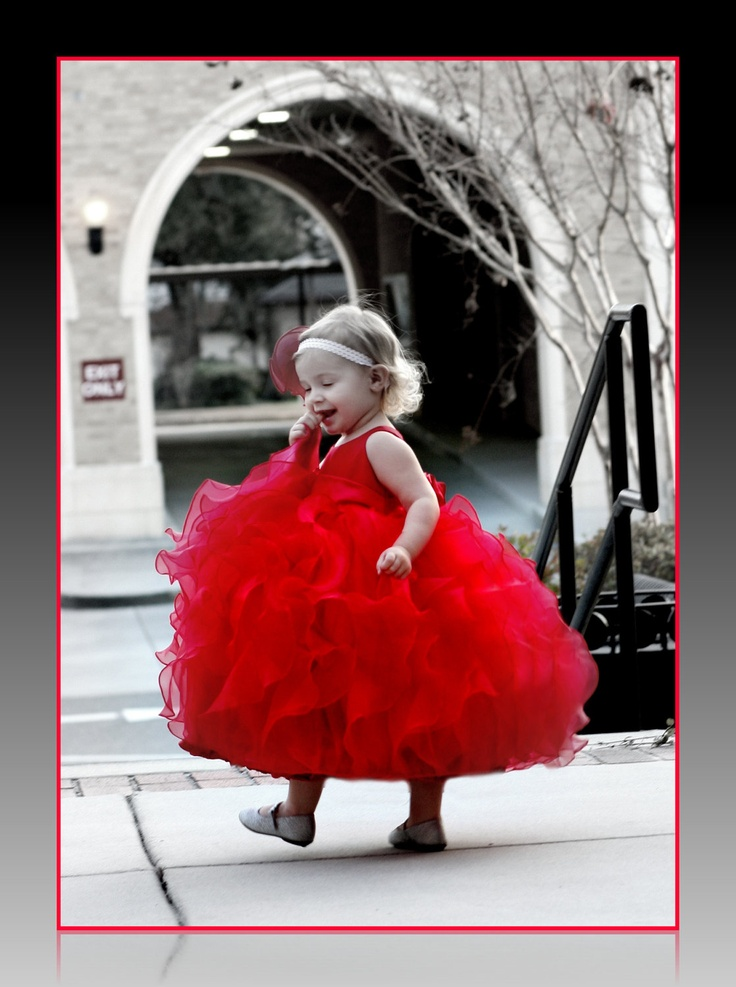 Red flower girls dress, tea-length,  lots of ruffles, perfect for Christmas, Valentines, or weddings. $247.24, via Etsy.: Teas Length, Flower Girls Dresses, Red Flower Girls, Girls Generation, Red Flowers, Christmas, Flower Girl Dresses, Valentine, Ruffles