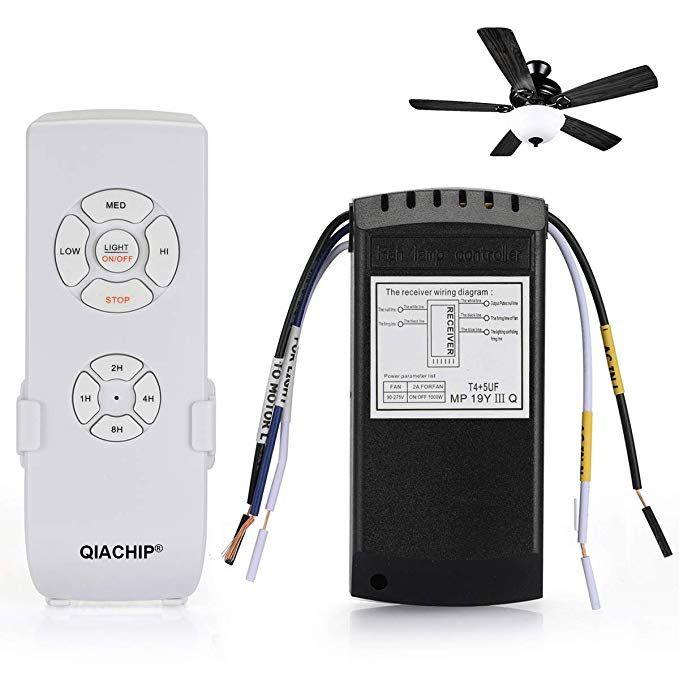 Qiachip Universal Ceiling Fan And Light Remote Control Kit Review Ceiling Fan With Remote
