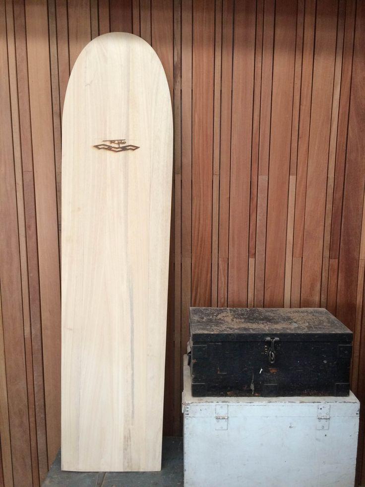 Obeche wood. Alaia Surfboard.