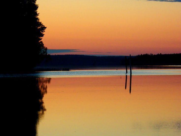 Sunset on the lake Toisvesi, Virrat Finland. photo rai-rai