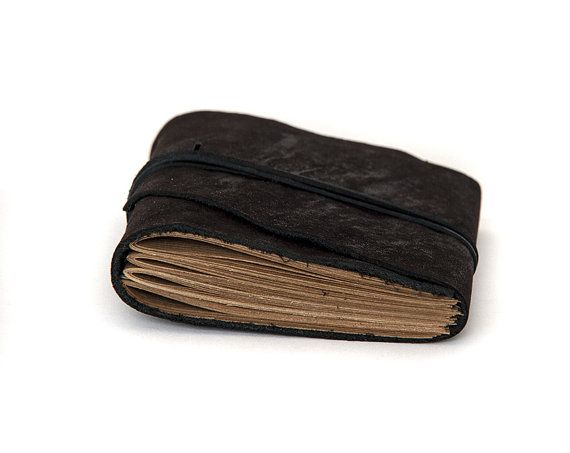 Leather journal pocket notebook diary sketchbook by BrotherWorks #leather #paper #notebook #journal  #altered #diary
