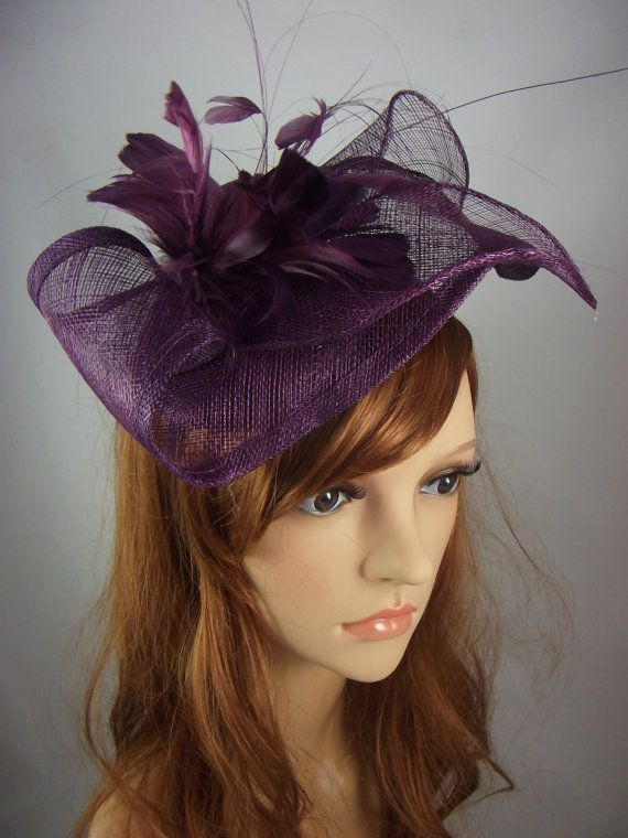 7d65c71cfa3f6 Stunning handmade sinamay fascinator in an unusual leaf shape with feather  flower completes that special outfit. Whether you are a wedding guest