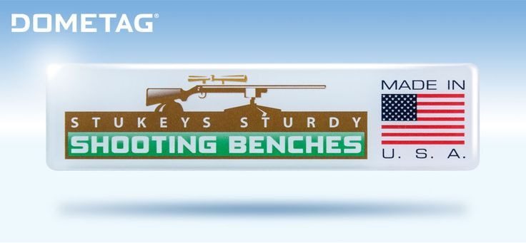 This domed decal a portable shooting bench company in Wyoming. What exactly is a domed label? Find out at https://dometag.com/product/dometagcomposition/