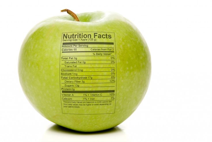 Nutrition facts check our fruit and vegetable calories chart