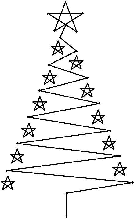 kerstboom-borduurkaart