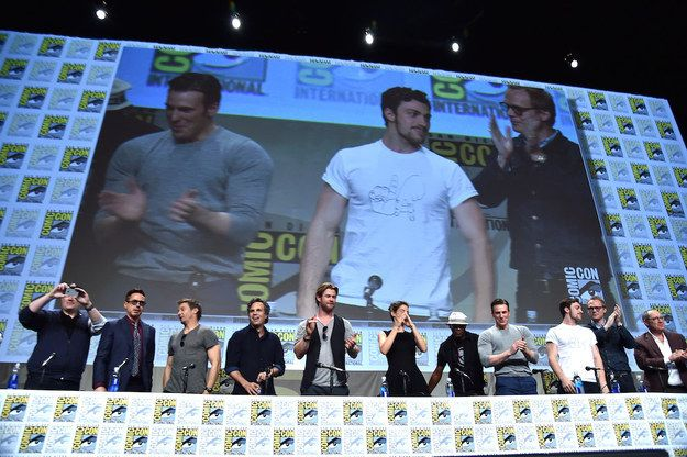 He was at San Diego Comic-Con on Saturday to promote Marvel Studios' The Avengers: Age of Ultron, along with most of the cast.