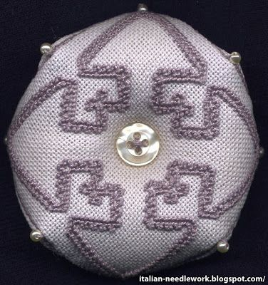 Italian Needlework: Punt'e nù - Sardinian Knotted Stitch Embroidery
