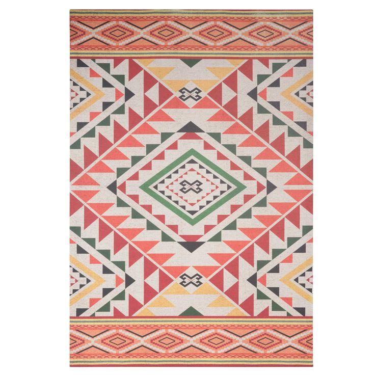 Toile imprimée motifs ethniques 65x95cm CARPET