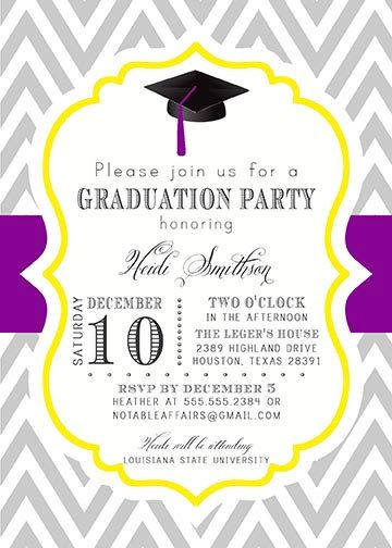 PRINTABLE Graduation Party Senior College by NotableAffairs, $15.00