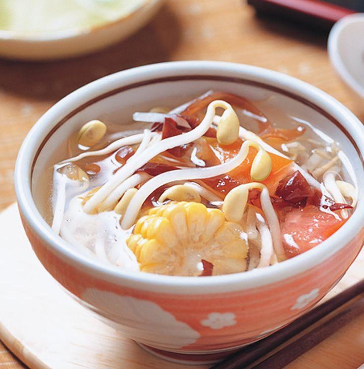 豆芽木耳湯(1)::食譜