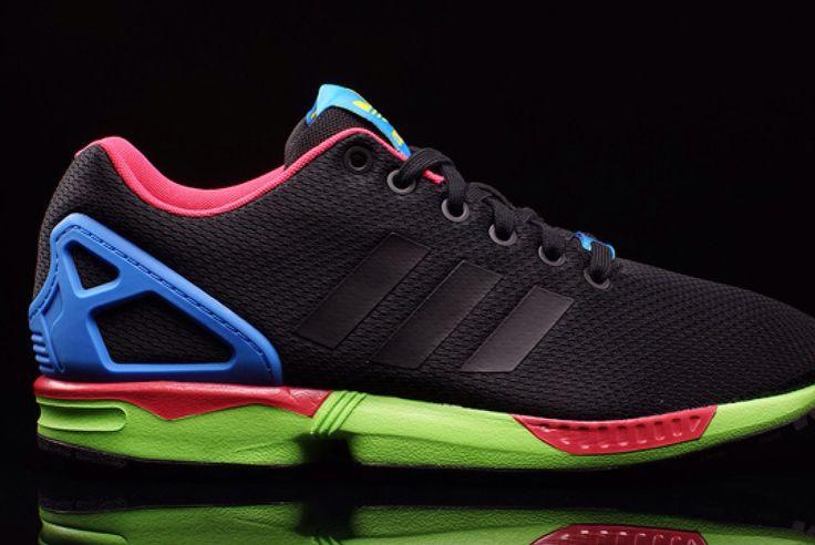 timeless design f9723 ef821 Lifelike Brand Casual Black Blue Unisex Adidas Zx Flux Running Shoes