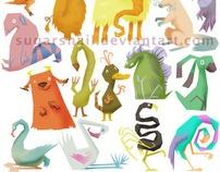 Cartoony Characters by Sugar Snail, via Behance