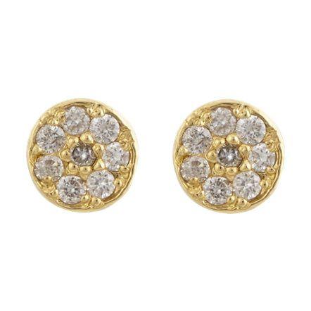 Jennifer Meyer Diamond & Gold Stud Earrings at Barneys.com