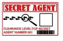 INSTANT DOWNLOAD  Spy Secret Agent  Detective James Bond Themed Birthday ID Badges for Birthday party (Box is for a Fingerprint) by MRMcrafts, $3.99
