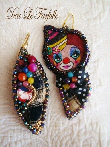 Earrings Clown