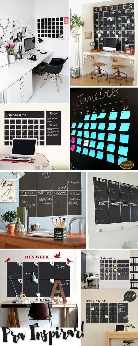 calendário de parede estilo lousa papel contact juro valendo