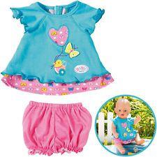 Zapf Creation Baby Born Babykleidchen Schmetterling (Türkis-Rosa)