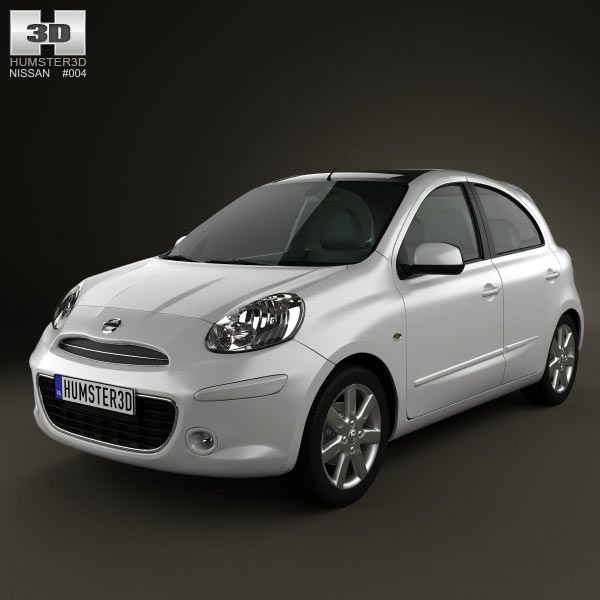 Nissan Micra (March) 2011 3d model from humster3d.com. Price: $75