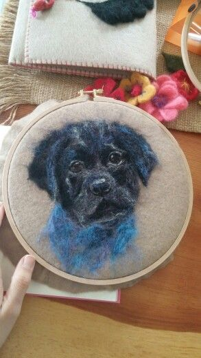 Feltingneedle , needlefelting , felt ,  keçe , dog , animal , köpek  Instagram : handesanat