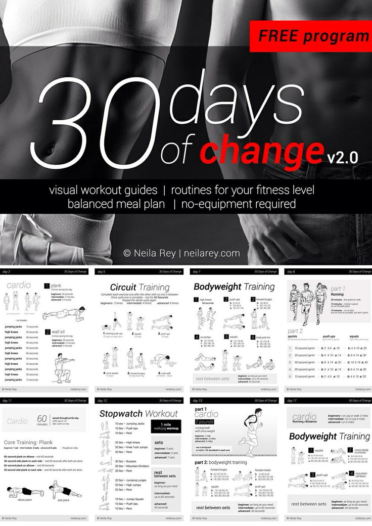 30 Day Workout Plan, total body. Health Pinterest