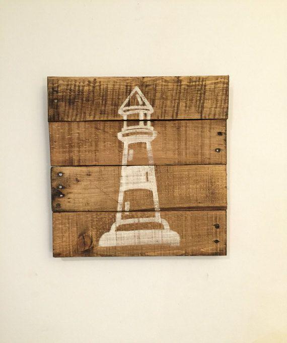 Lighthouse Sign / Nautical Decor / Rustic by PalletsandPaint