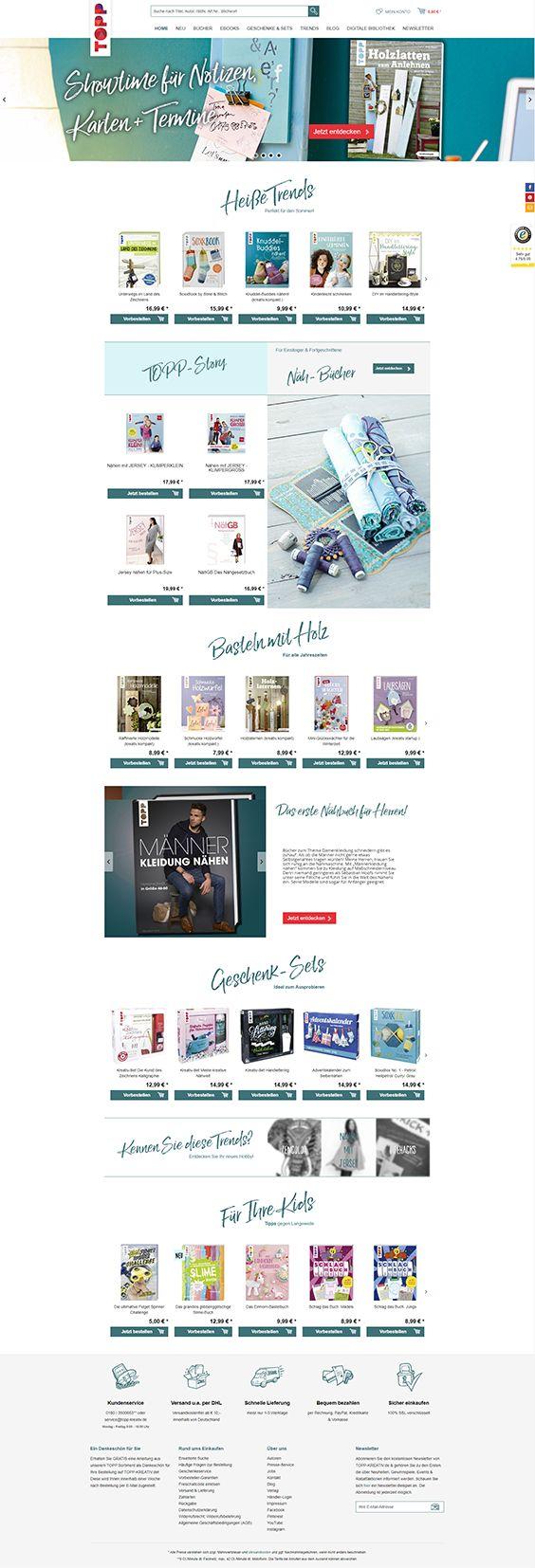 Shopware Design, Shopware Theme, Shopware Shop, eCommerce, eCommerce Software, eCommerce platform, Onlineshop, Hobby, sewing, baking, DIY, instruction manual