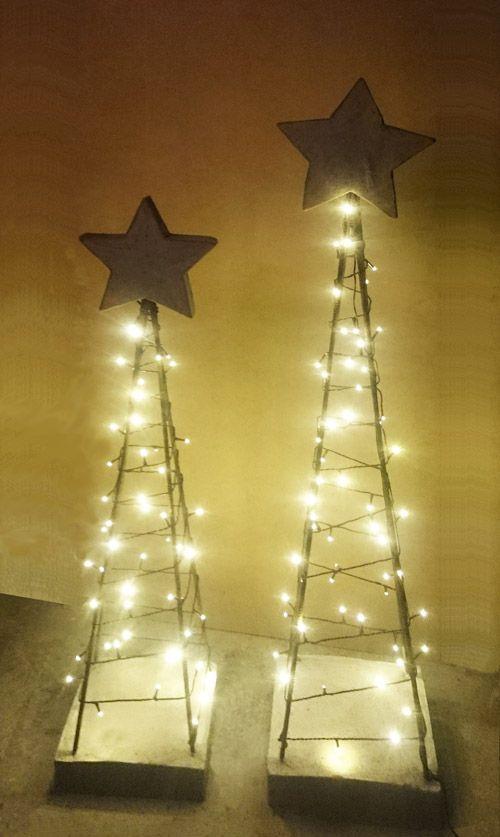 solar lights, metal, hypertufa-large scale christmas orn'