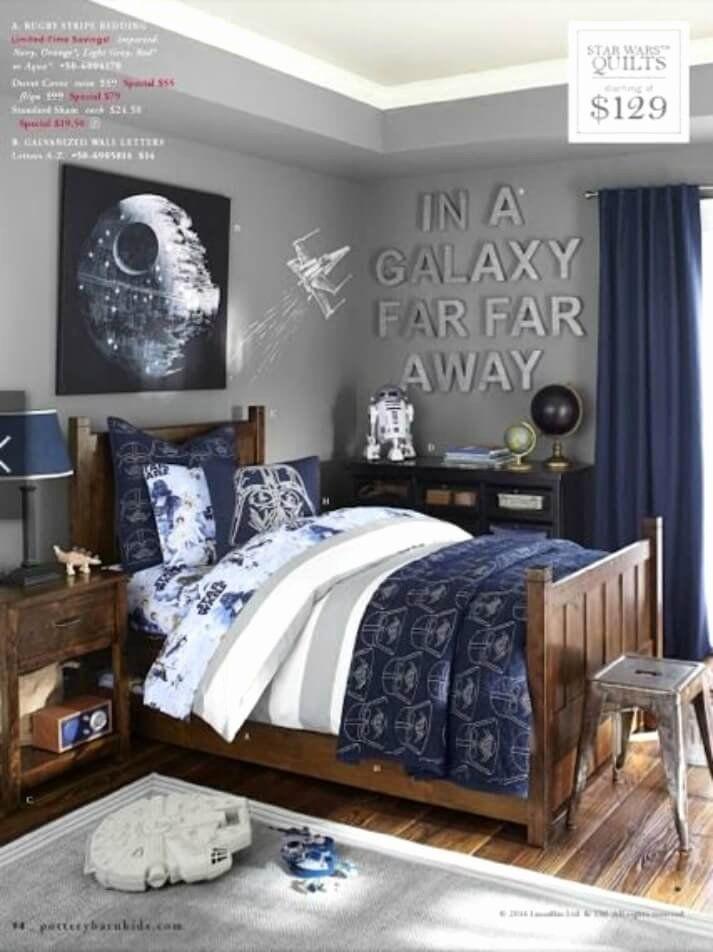 Star Wars Bedroom Theme Beautiful A Star Wars Themed Bedroom Boys Room Colors Bedroom Design Star Wars Bedroom