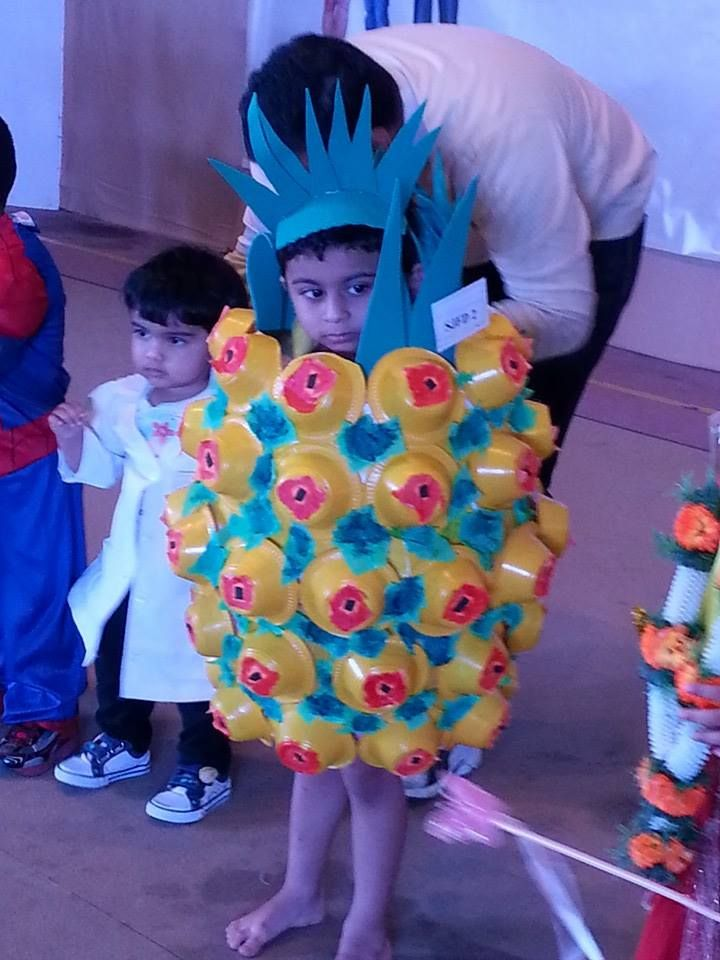 Fancy dress for kids kid as a pineapple fancy dress for Best out of waste topics