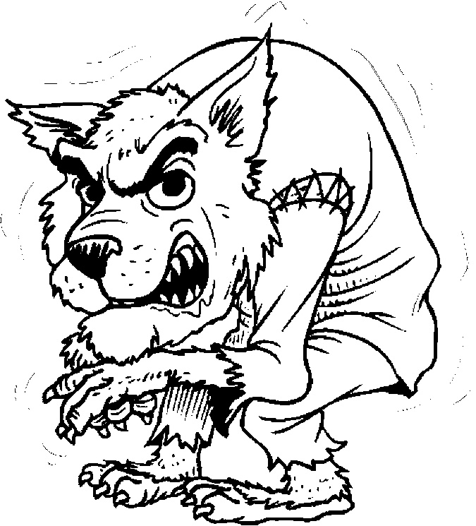 werewolf coloring pages for halloween at coloringbookfuncom