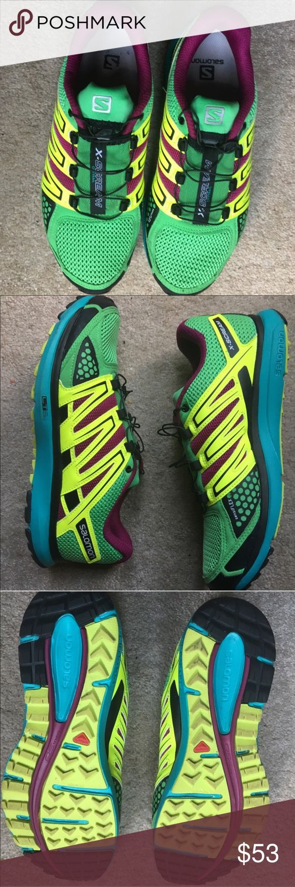 SALOMON X-SCREAM Athletic Shoes GUC Size 8 Light weight, Saldom Used, no tears no rips Salomon Shoes Athletic Shoes