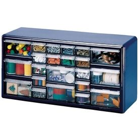 Stack-On 22-Drawer Blue Plastic Storage Cabinet (art supplies, tool shed, hair accessories...)